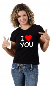 Camiseta I love you