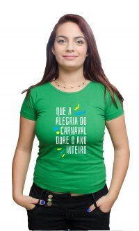 Camiseta Alegria do Carnaval