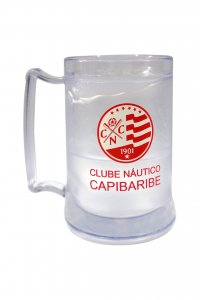 Caneca Gel Incolor 400ml Escudo do Náutico